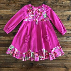 New Boutique Pink Corduroy Pleated Dress Baby Nay